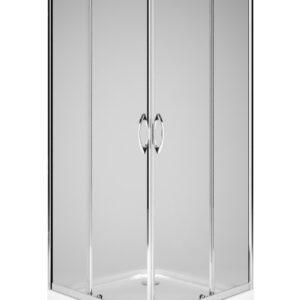 Cabina de dus patrata Kolo Rekord 80x80 profil crom lucios sticla clara 4mm