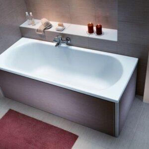 Cada baie rectangulara Kolo Opal Plus 160x70cm acril picioare incluse