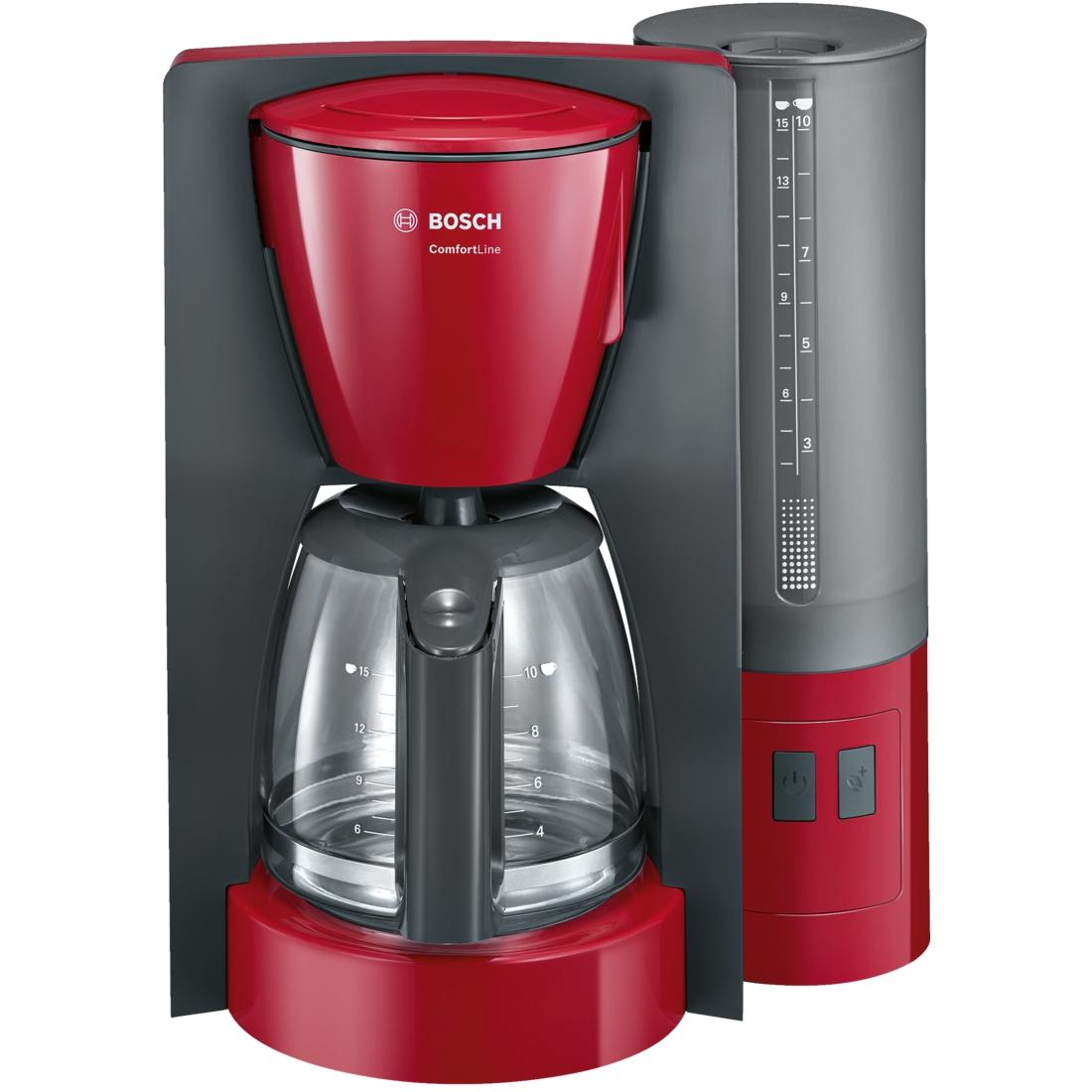 Cafetiera Bosch TKA6A044 ComfortLine 1.25 litri 1200W rosu - antracit