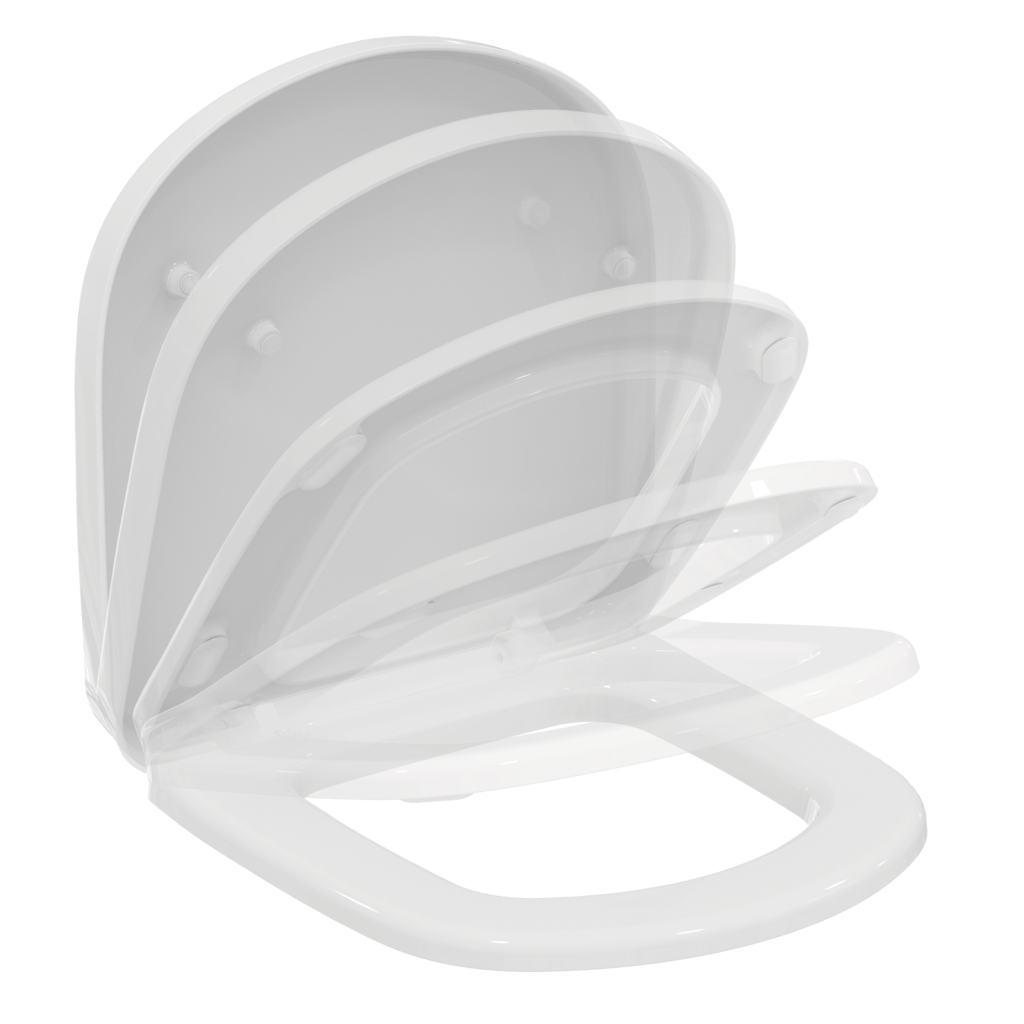 Capac WC Ideal Standard Tempo cu inchidere lenta pentru vas cu proiectie scurta