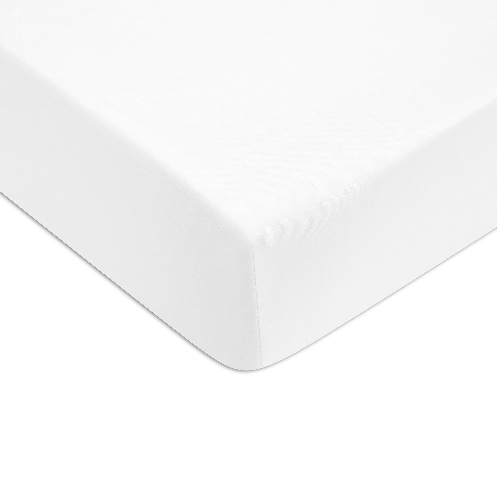 Cearceaf de pat cu elastic Tommy Hilfiger Unis Percale 160x200cm Alb