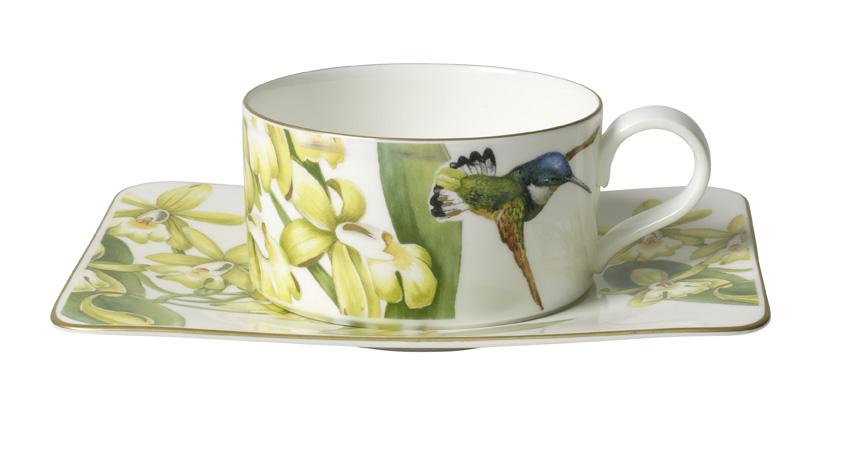 Ceasca si farfuriuta ceai Villeroy & Boch Amazonia