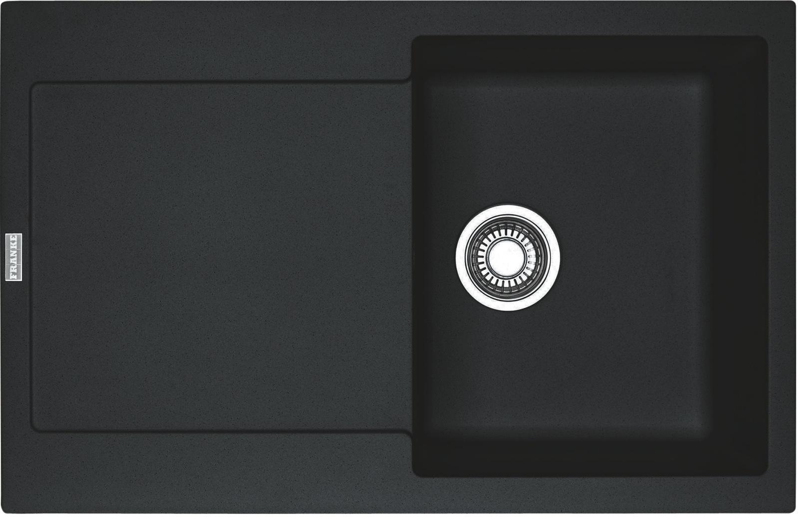 Chiuveta bucatarie fragranite Franke Maris MRG 611 reversibila 780x500mm tehnologie Sanitized Nero