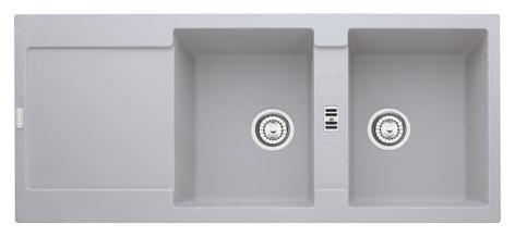 Chiuveta bucatarie fragranite Franke Maris MRG 621 reversibila 1160x500mm tehnologie Sanitized Alluminio