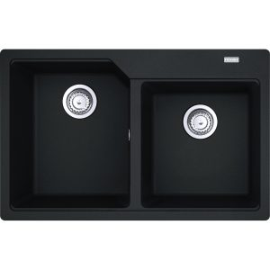 Chiuveta bucatarie fragranite Franke Urban UBG 620-78 cu doua cuve 780x500mm Nero