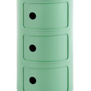 Comoda modulara Kartell Componibili Bio 3 design Anna Castelli Ferrieri verde