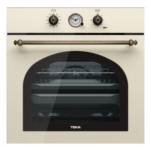 Cuptor electric incorporabil Teka HRB 6300 VN 70 litri multifunctional 9 functii HydroClean Clasa A+ Vanilla Rustic