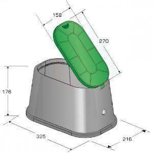 Cutie ovala pentru apometru