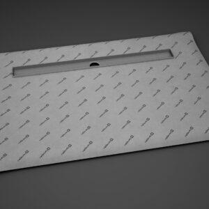 Kit rigola de dus Radaway pe latura lunga RadaDrain 90x80cm placare 8-12mm