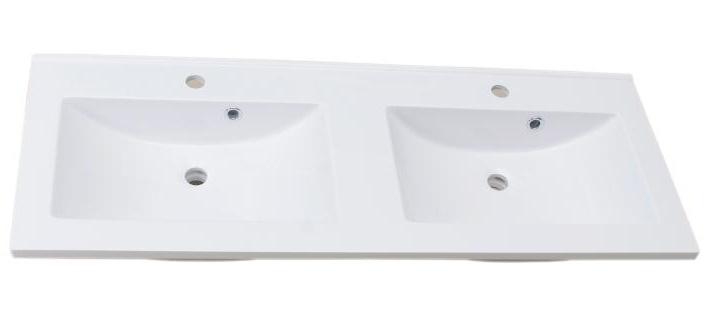 Lavoar dublu Sanotechnik Soho 120x50cm montare pe mobilier compozit alb