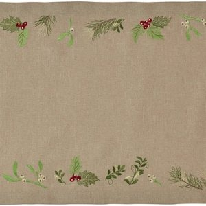 Napron Sander Embroidery X-Mas Leaves 20x80cm 70 Atmosphere