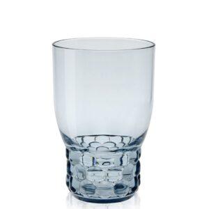 Pahar apa Kartell Jellies Family design Patricia Urquiola d 8.5cm h13cm albastru transparent