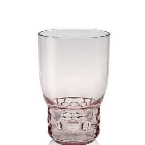 Pahar apa Kartell Jellies Family design Patricia Urquiola d 8.5cm h13cm roz transparent