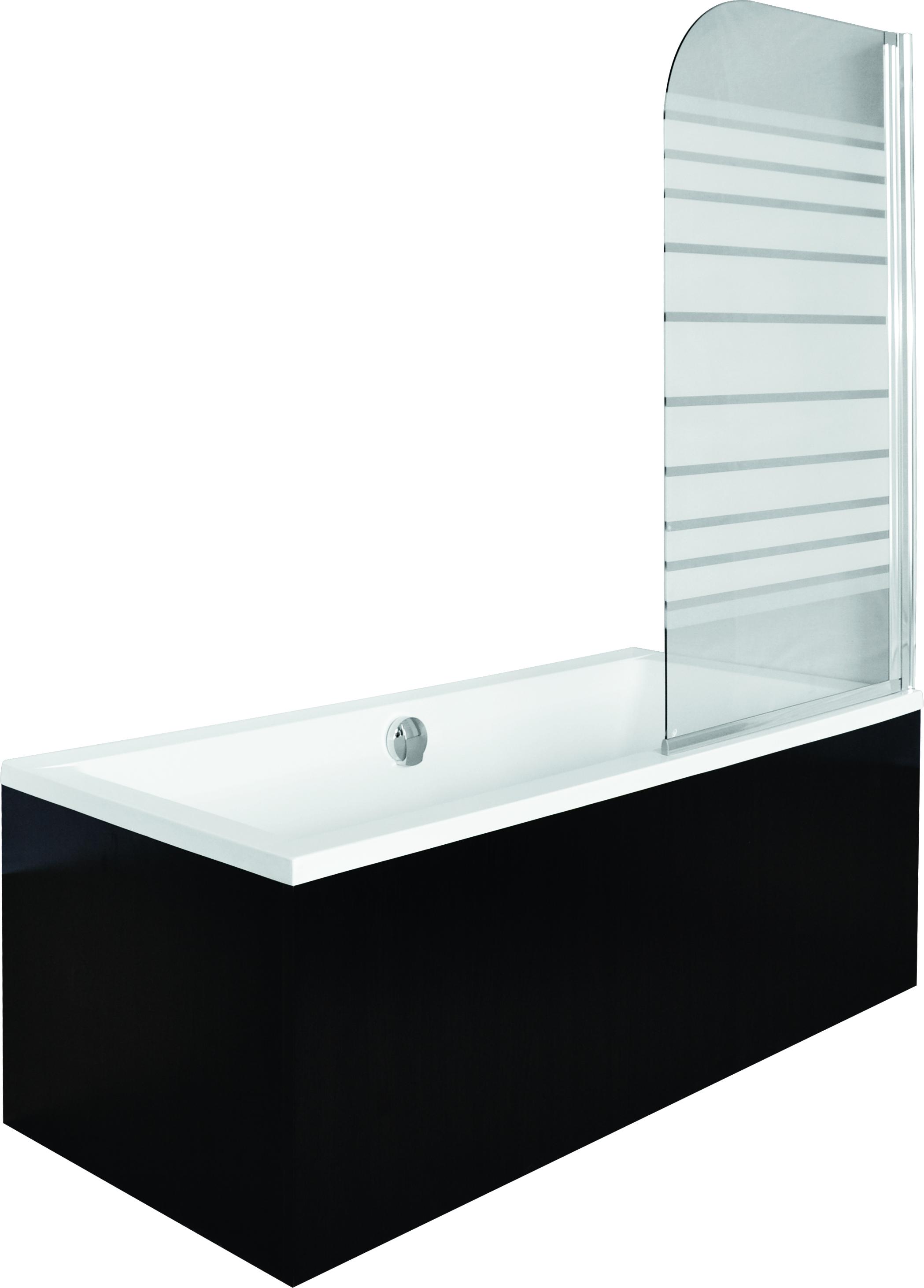 Paravan cada Besco Ambition 1 un element mobil 75 x 130 cm sticla opaca 5 mm profil crom