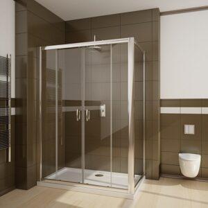 Perete lateral Radaway Premium Plus S80 80x190 geam transparent profil crom