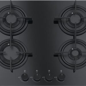 Plita gaz incorporabila Franke Crystal Black FHCR 604 4G HE BK C cu 4 arzatoare 590x510mm gratare fonta