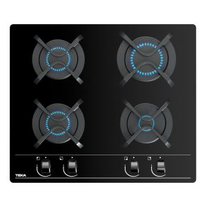 Plita gaz incorporabila Teka GBC 64000 KBN 60 cm 4 arzatoare gratare fonta cristal negru
