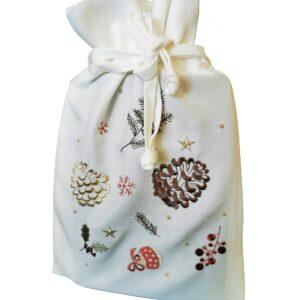 Saculet Sander Embroidery Winter's Tale 20x30cm 29 ecru