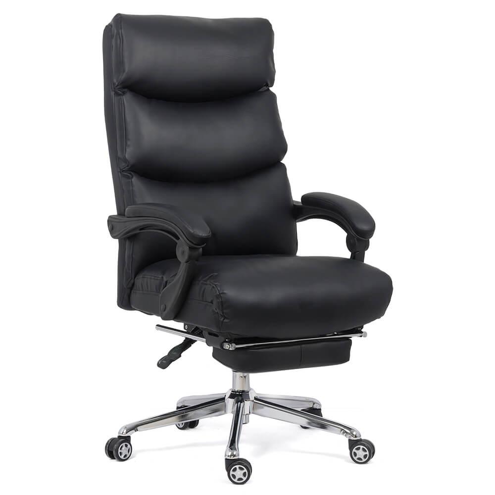 Scaun directorial cu suport de picioare OFF 422 negru