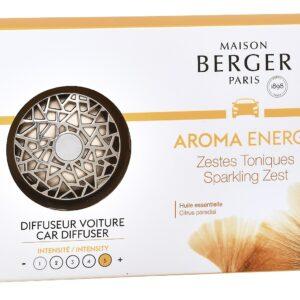 Set odorizant masina Berger Aroma Energy Zestes toniques + rezerva ceramica