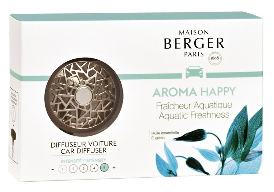 Set odorizant masina Berger Aroma Happy Fraicheur Aquatique + rezerva ceramica