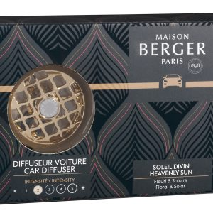 Set odorizant masina Berger Relaxing Escapade + rezerva ceramica Soleil Divin