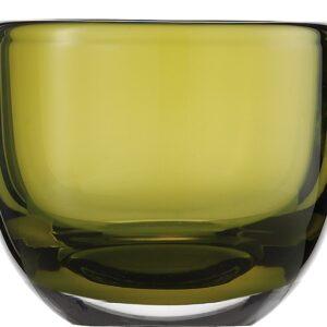 Suport lumanare Zwiesel 1872 Living Lights Olive 74x92mm